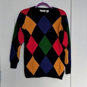 Vintage Liz Claiborne 💯cotton retro sweater